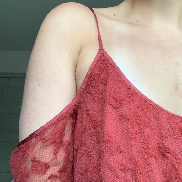 Forever 21 Tops - off the shoulder lace top